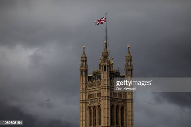 Dark clouds pass by the Houses of Parliament on November 19 2018 in London England The newly appointed Brexit Secretary replaced Dominic Raab who...