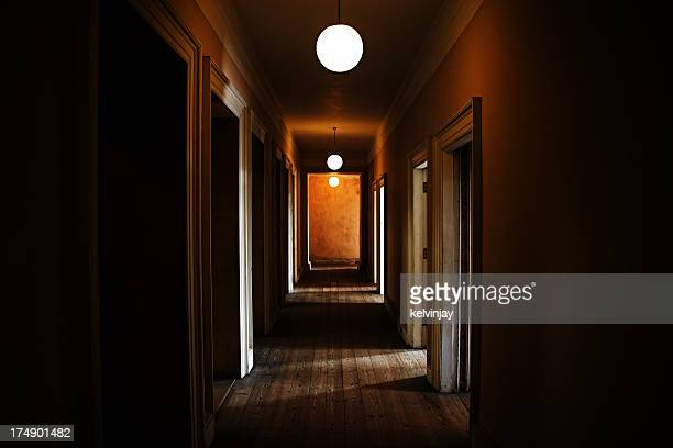 Dark creepy corridor