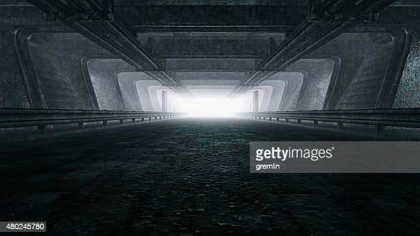 dark empty tunnel, hangar - dark stock pictures, royalty-free photos & images