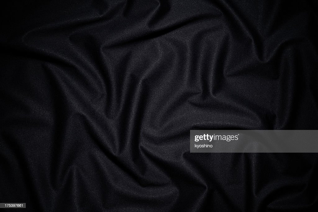 Dark fabric texture background with wave pattern : Stock Photo