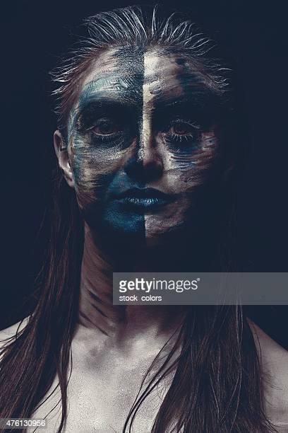 Rosto Maquiagem escura