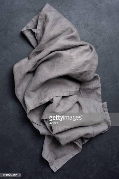 dark grey linen kitchen textile - テーブルナプキン ストックフォトと画像