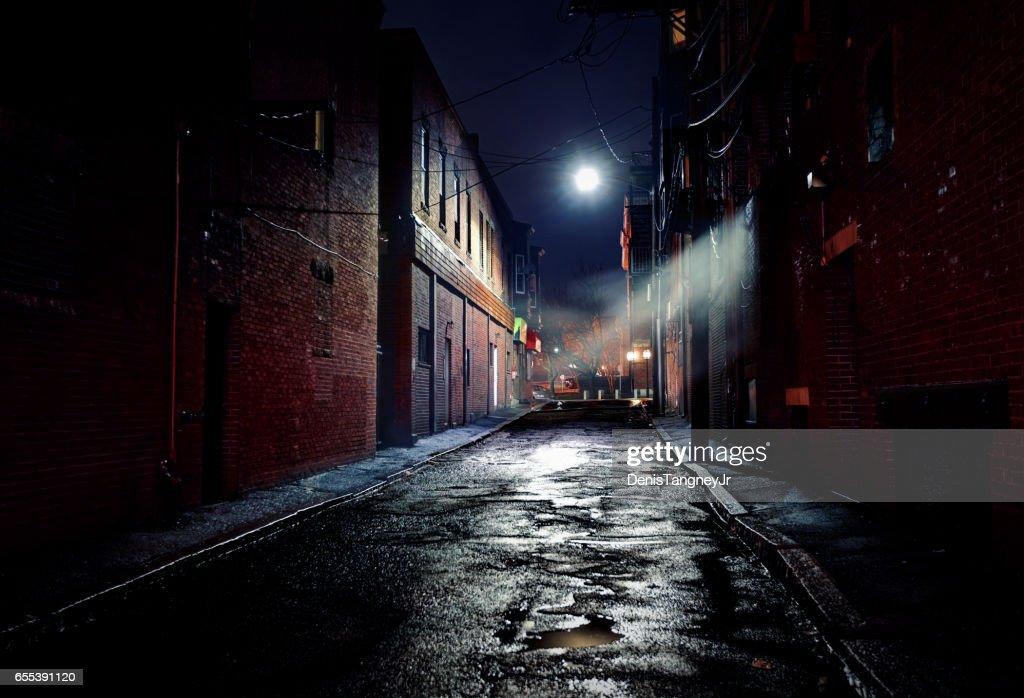 Dark Gritty Alleyway : Stock Photo