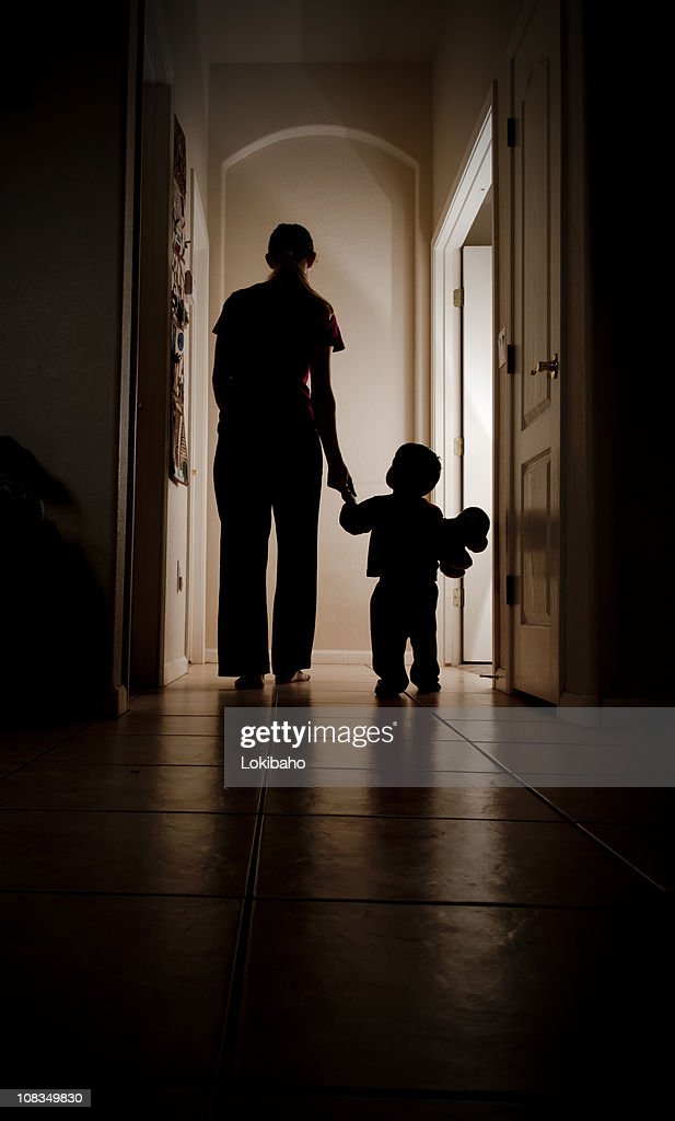 Dark Hallway To Bed : Stock Photo