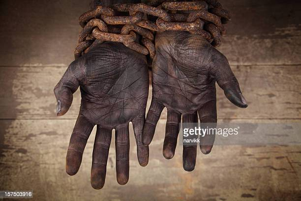 chains African american slaves in