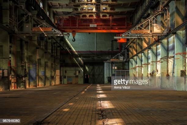dark industrial interior - abandoned stock pictures, royalty-free photos & images