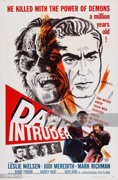 Dark Intruder poster US poster Peter Mark Richman bottom from left Leslie Nielsen Judi Meredith Peter Mark Richman 1965
