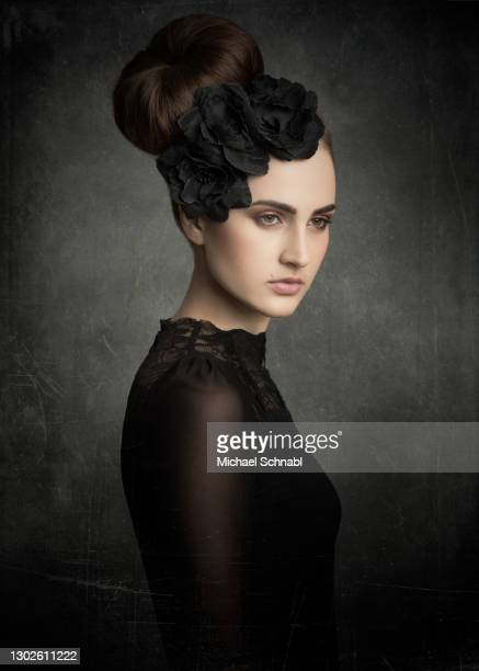 dark lady - renaissance stock pictures, royalty-free photos & images