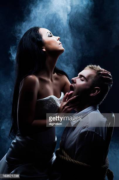 Dark Love - Daemon Woman with her Lover.