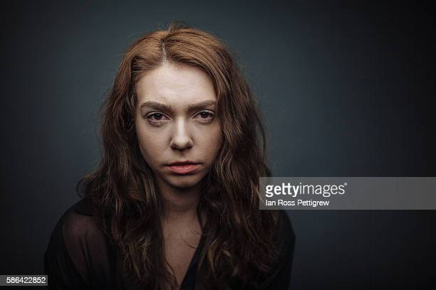 Dark portrait of young woman