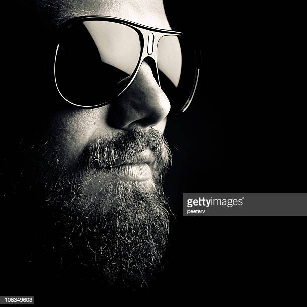 dark portrait - beard stock pictures, royalty-free photos & images