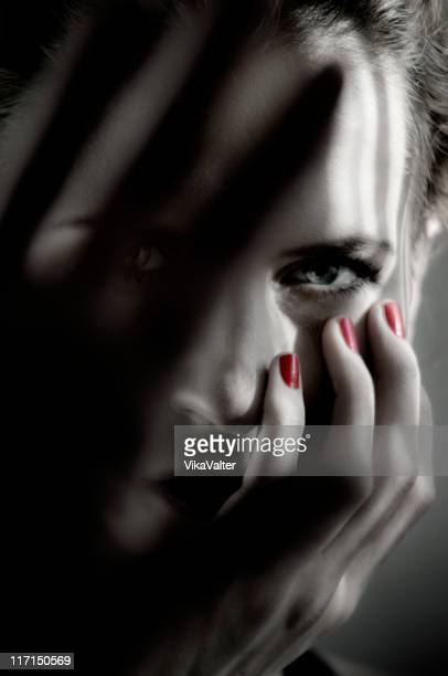dark portrait - gray eyes stock pictures, royalty-free photos & images