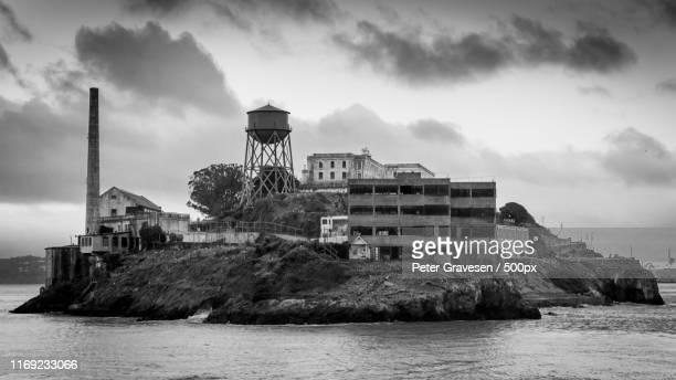 dark prison - alcatraz island stock pictures, royalty-free photos & images
