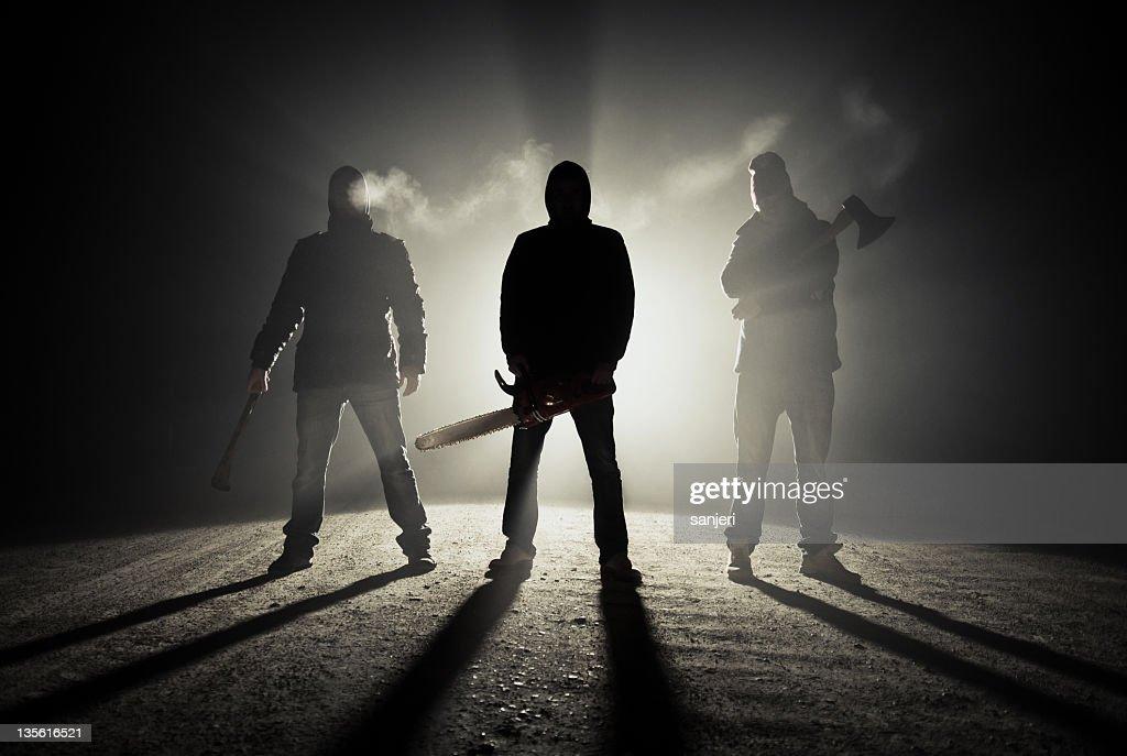 Dark roadside killers : Stock Photo