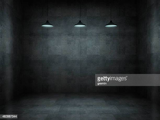Dark, scar, empty office room