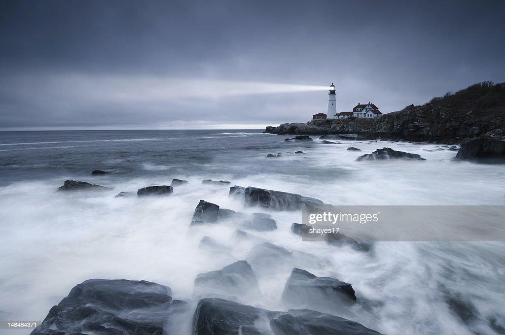 Dark seas lighthouse : Stock Photo