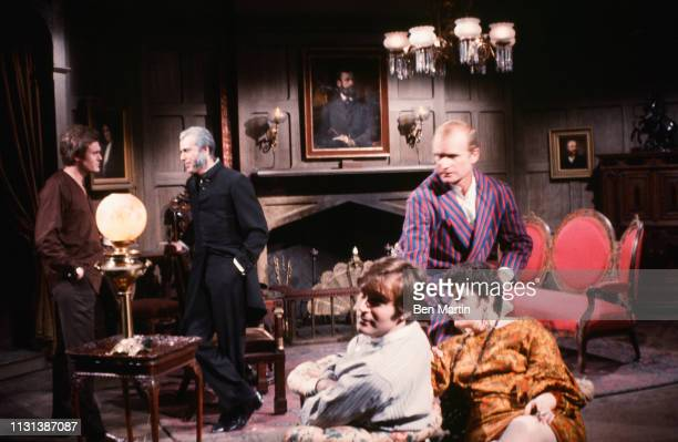 Dark Shadows daytime TV show color rehearsal photo with Roger Davis Jerry Lacy Louis Edmonds Don Bricoe and crew members in ABC Studio 16 1969