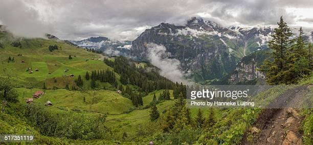 Dark skies over the Swiss Alps