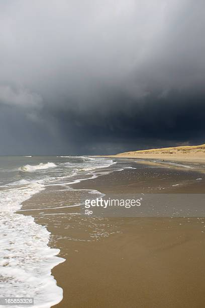 Dark sky at the beach