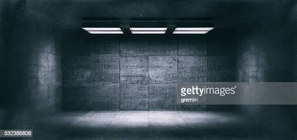 dark, spooky, empty office room - empty room stock pictures, royalty-free photos & images