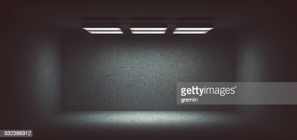 Dark, spooky, empty office room