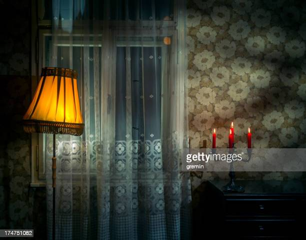 dark spooky old room - spooky stock pictures, royalty-free photos & images
