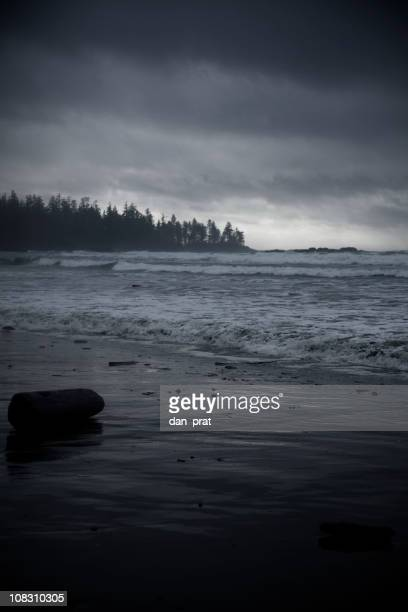 Dark Stormy Beach