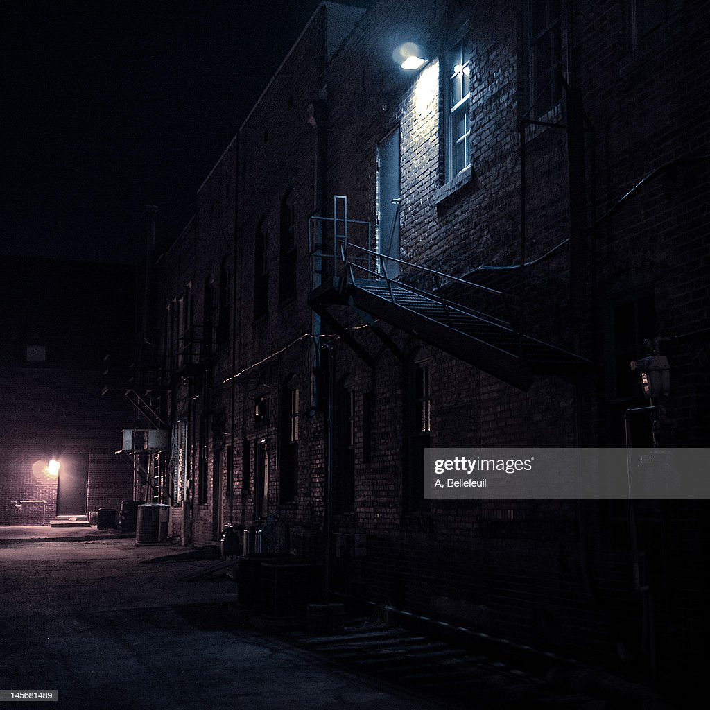 Dark street : Stock Photo