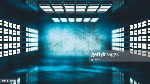 Dunkle studio Hintergrund mit Licht