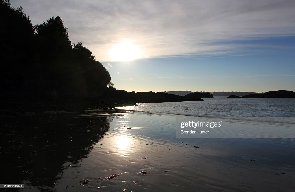 Dark Tofino Cove : Foto stock