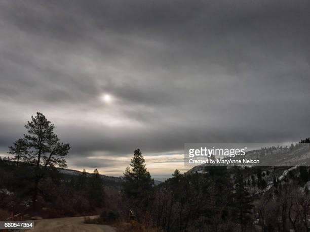 dark winter day road - mary moody fotografías e imágenes de stock