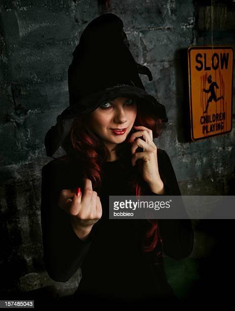 dark witch gesturing
