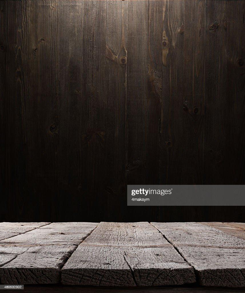 Trama di sfondo di legno scuro : Foto stock
