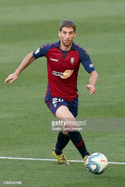 Darko Brasanac of CA Osasuna with the ball during the Liga match between CA Osasuna and CD Leganes at on June 27 2020 in Pamplona Spain