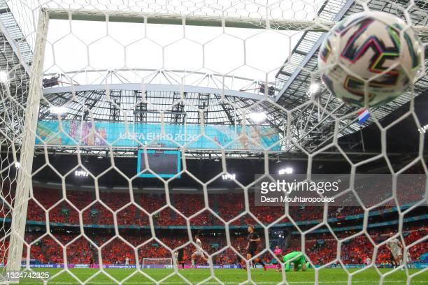 Darko Churlinov of North Macedonia celebrates after scoring a goal that was disallowed for offside during the UEFA Euro 2020 Championship Group C...