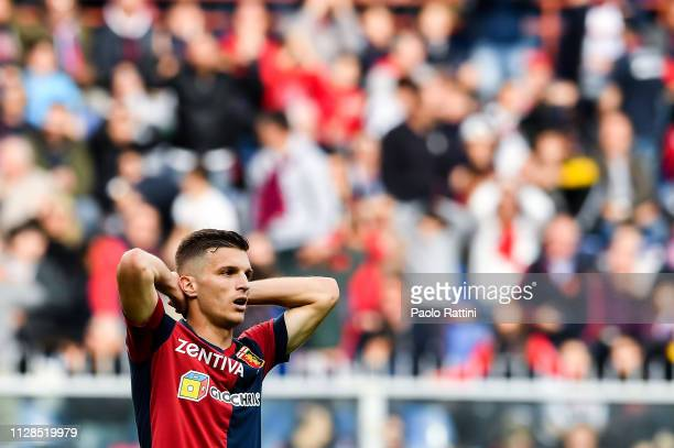 Darko Lazovic of Genoa reacts with disappointment during the Serie A match between Genoa CFC and Frosinone Calcio at Stadio Luigi Ferraris on March...