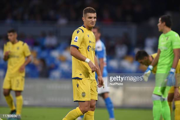 Darko Lazovic of Hellas Verona during the Serie A TIM match between SSC Napoli and Hellas Verona at Stadio San Paolo Naples Italy on 19 October 2019.