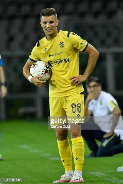 Darko Lazovic of Hellas Verona FC attends during the Serie A match between Torino FC and Hellas Verona at Stadio Olimpico di Torino on July 22, 2020...