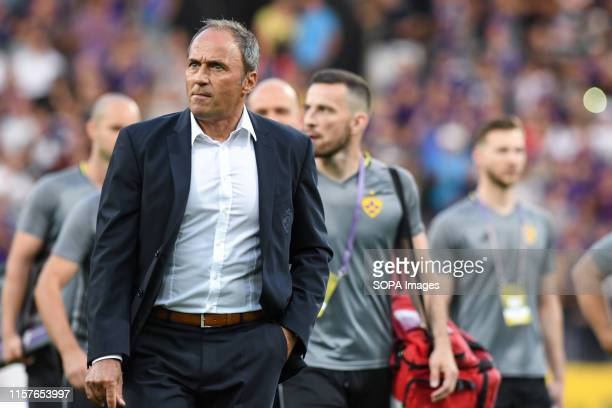 Darko Milanic head coach of Maribor seen during the Second qualifying round of the UEFA Champions League between NK Maribor and AIK Football at the...