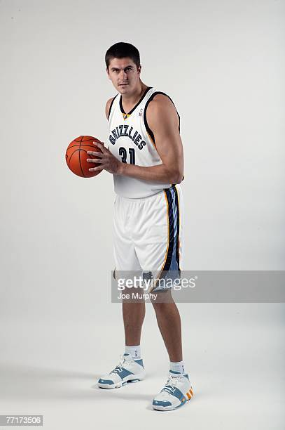 Darko Milicic of the Memphis Grizzlies poses for a portrait during NBA Media Day at FedExForum on September 28, 2007 in Memphis, Tennessee. NOTE TO...