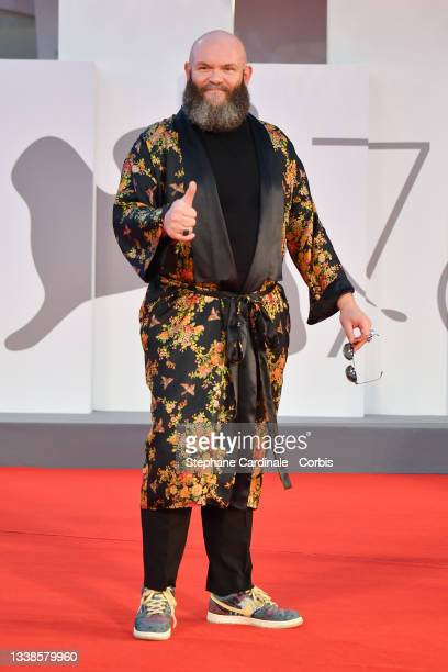 """Darko Perić attends the red carpet of the """"Filming Italy Award"""" during the 78th Venice International Film Festival on September 05, 2021 in Venice,..."""
