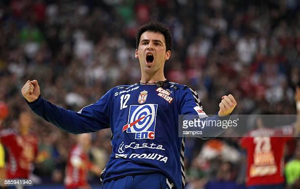 Darko STANIC bejubelt den Einzug ins Finale Handball Männer Europameisterschaft 2012 Halbfinale : Serbien - Kroatien 10 th mens european championchip...