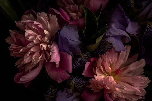 Dark-toned photo of bouquet 1149180878