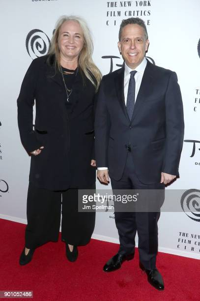Darla K Anderson and Lee Unkrich attend the 2017 New York Film Critics Awards at TAO Downtown on January 3 2018 in New York City