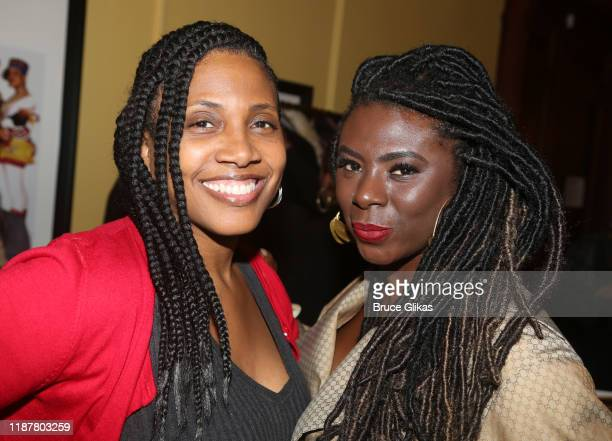 Darlene Aiken and Creator/Host of North of 40 Podcast Maryam Myika Day pose at the celebration for the North of 40 Podcast Launch at Dapper Dan...