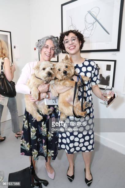Darlene Kaplan and Esther Zuckerman during the Humane Society Of New York In Partnership With Aperture Foundation Fine Art Photography Benefit...