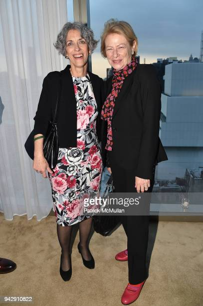 Darlene Kaplan and Nina Rosenblum attend the Spring Party to benefit Aperture and to celebrate The Photographer in the Garden at Public Hotel on...