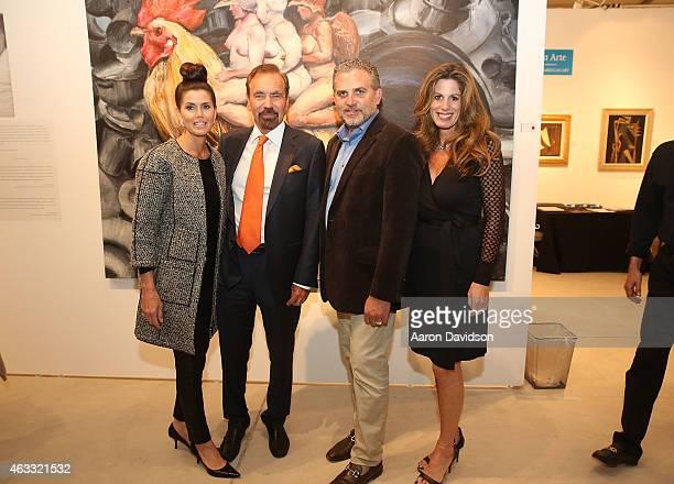 Darlene Perez Jorge Perez Nick Korniloff and Pamela Cohen attend Art Wynwood VIP Preview at Art Wynwood Pavilion on February 12 2015 in Miami Florida