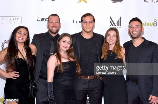 Darlene Robles Jon Thomas Lyn Ventimiglia Jude Hanlein Nicole Blahut and Jamie Miller attend the Kash Hovey and Friends Film Block at Film Fest LA at...