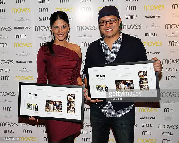 Darlene Rodriguez and Chef Dale Talde attend the 2011 New York Moves Magazine Spring Party at Plein Sud on March 10 2011 in New York City